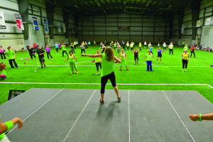 Approximately 130 people registered for Zumbathon for Lyme Disease held Saturday at the Dufferin Rural Heritage Community Centre in Acton. Participants were put through their workouts by Zumba instructors from the Town of Halton Hills and Zumba Fitness staff. Jon Borgstrom photo.